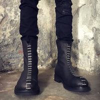 Vintage Zipper High-Top Street Platform Boots