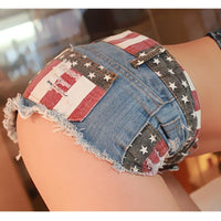 Trousers Skinny Flag denim shorts
