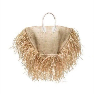 beach woven bag Tote fringed beach woven Shoulder handbags