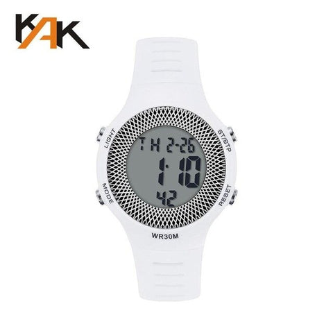 Waterproof Electronic PU Leather Casual Sport Wristwatch