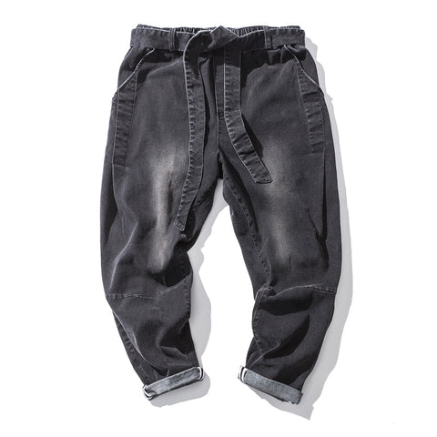leisu loose and comfortable tootsies return to the ancients  water scrubbing Loose waist jeans