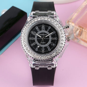 Quartz Watch Unisex LED Colorful Flash Wristwatch