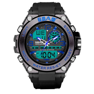 Multi Function Large Dial Round Double Display Special Forces Sports Watch