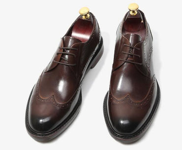 round toe lace-up Breathable Oxford Shoes