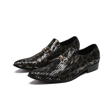 Mesh breathable Genuine Leather Oxford Shoes