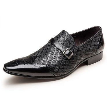 Slip On Pointed Toe Oxford Shoes