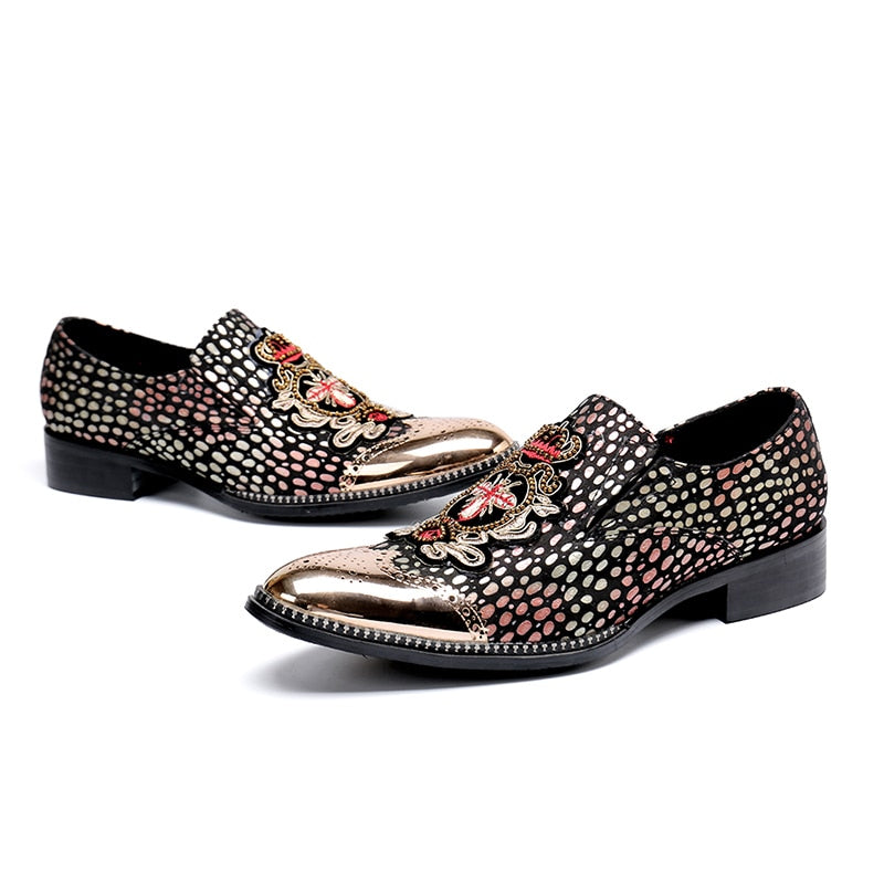 Slip-on Polka Dot Oxford Shoes