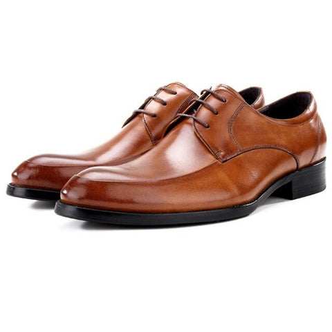 Genuine Leather Shoes Casual Pointed Toe Oxford Shoes