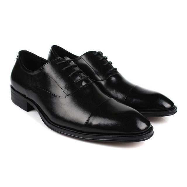 Dress Shoes Genuine Leather  Classic Pointed Toe Business Formal Oxford Shoes