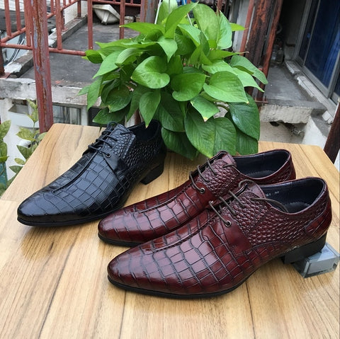 Stone pattern formal dress shoes Oxford Shoes