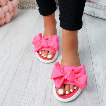 Slippers Slip On Peep Toe Flat Shoes
