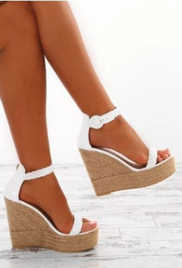 Platform Wedge Zip Sandals