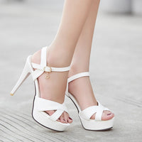 Cool Shoes Platform Fish Mouth Sandals Red Bottom Heel