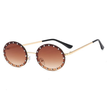 Shiny Diamond Frame Sunglasses