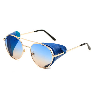 Round Steampunk Alloy Sunglasses