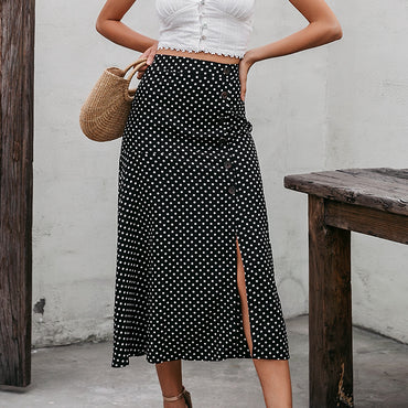 Sexy high waist split A-line skirts