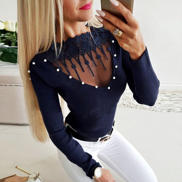 Hollow Out Front Blouse