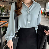loose shirt long sleeve blouse