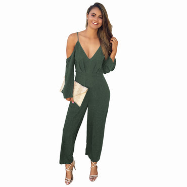 Waist Playsuit Beach Loose Long Jumpsuits