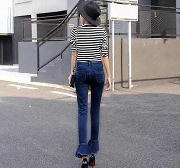 Ruffles Flared Jeans