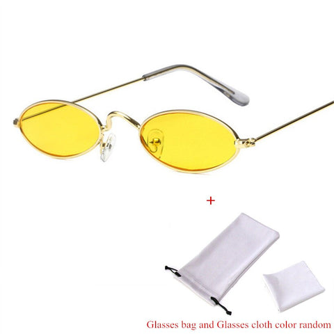 Retro Yellow Black Eyewear Sunglasses
