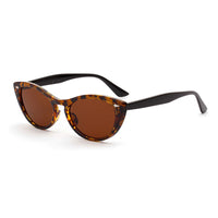 Retro Leopard Small Cat Eye Sunglasses