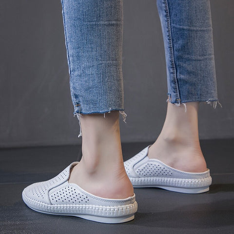 Flat Hollow out White Flat Shoes