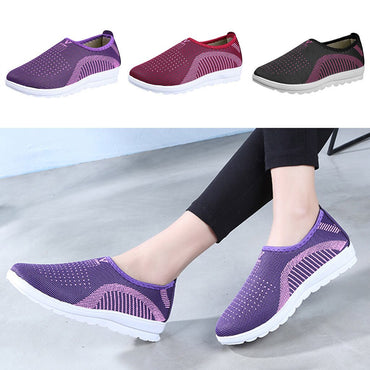 Cotton  Casual Walking Stripe Sneakers Flat Shoes