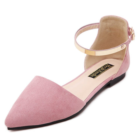 Buckle Strap Flat Shoes