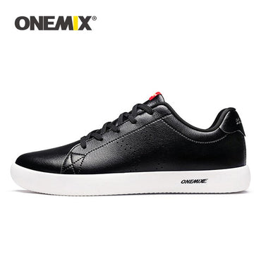 Leather Skateboarding Shoes Lightweight Walking Flat Shoes
