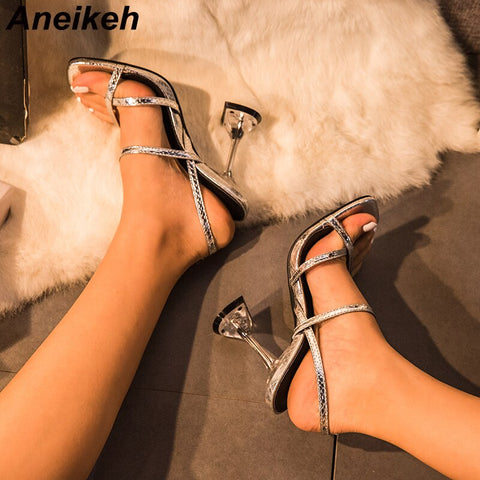 Peep Toe Square head High Heels Sandals