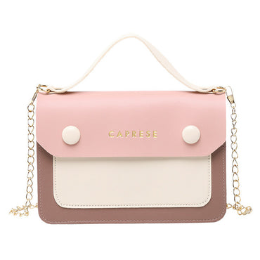 Stylish Contrast Color Shoulder Handbags