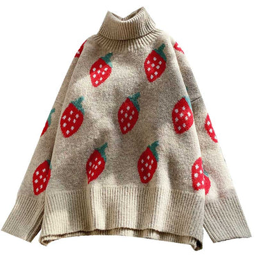 turtleneck strawberry sweaters