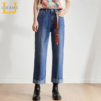 loose high waist wide leg jeans