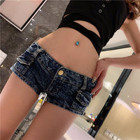 Booty Shorts Skinny Low Waist Sexy Mini Jeans denim shorts