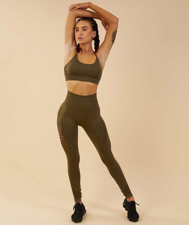 Set Strappy Bra High Waist  Leggings