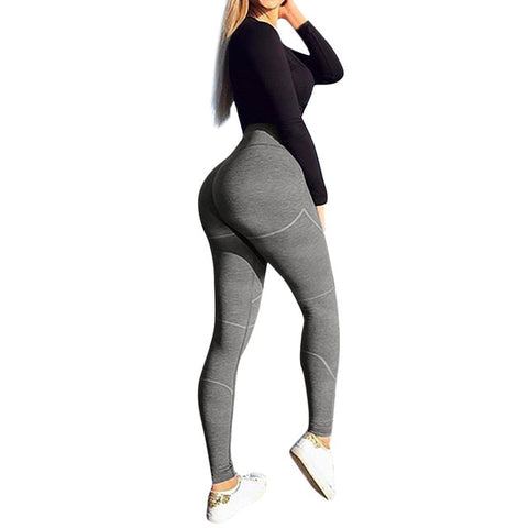 Fitness Sports Suits GYM Yoga Long Solid High Waist Running Leggings