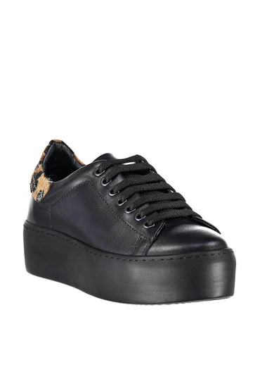 Pearl Genuine Leather Black Shoes & Sneakers