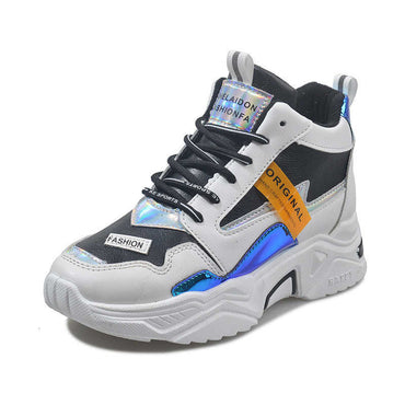 Running Shoes Chunky Comfortable Outdoor Travel Walking Leather Patchwork Sports Shoes & Sneakers