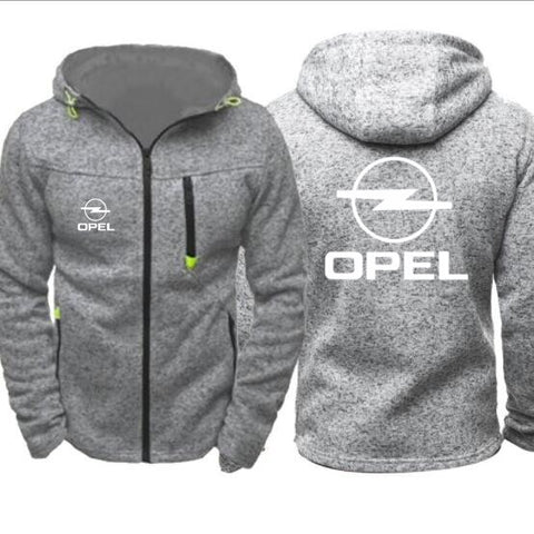 casual Opel Logo Jacket Long Harajuku Zipper Hoodie