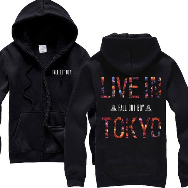 Cotton Zipper hoodies shell jacket punk hoodies