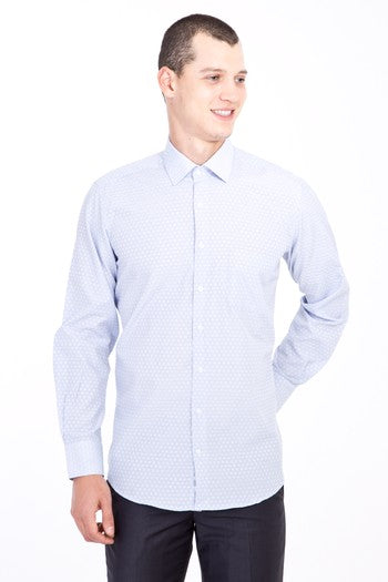 Long Sleeve Solid Oxford Dress Shirt