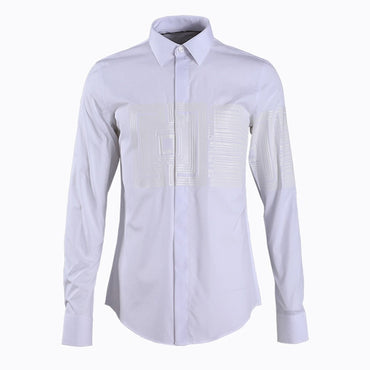 Casual slim Chemise home Black White Business Dress Shirt