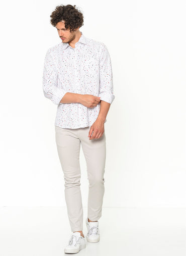 Varetta Printed Polka Dot Dress Shirt