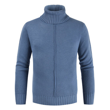 Solid 6 Colors Pull Homme Turtleneck Sweater