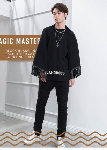 Cape Style Korean version of handsome Cardigan sweater