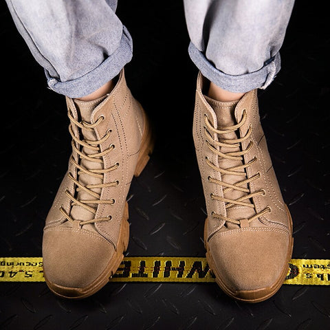 British Style High Shoes Korean-style Retro Versatile Combat Boots