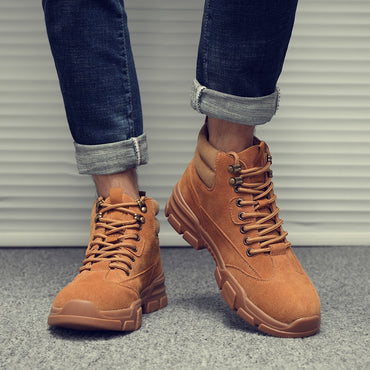 Genuine Leather Hight-top Short Boots