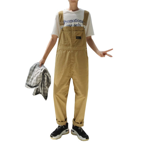 Straight Overalls Pants