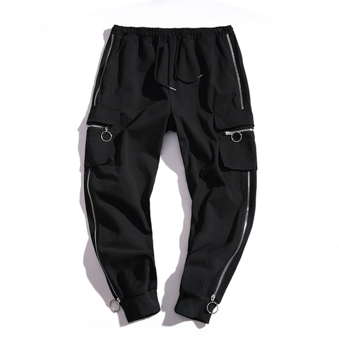 Zipper Loose Cargo Pant